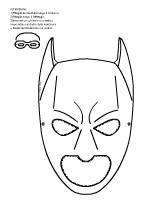 Maschere in bianco nero da stampare baby flash for Immagini flash da colorare