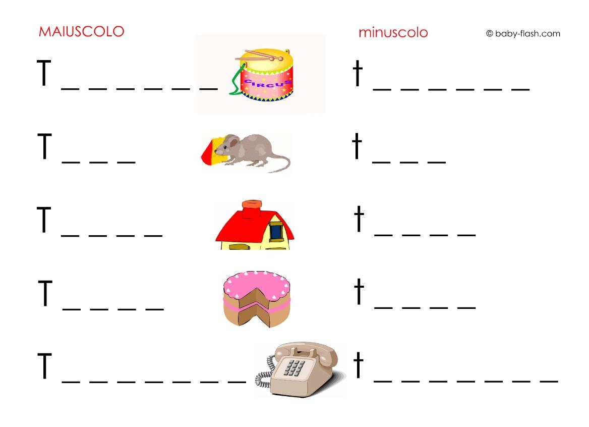 Schede didattiche di parole baby flash for Parole con scu per bambini
