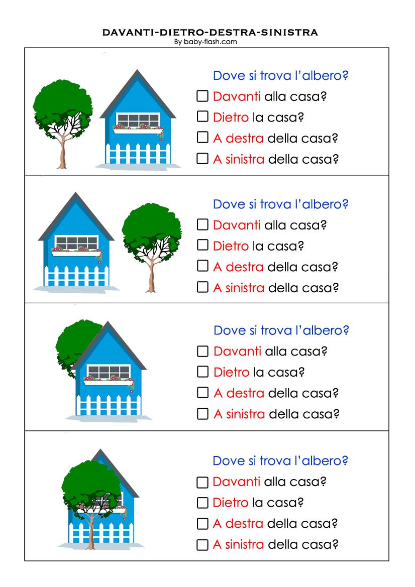 Schede didattiche destra e sinistra scuola primaria fx23 for Baby flash italiano doppie