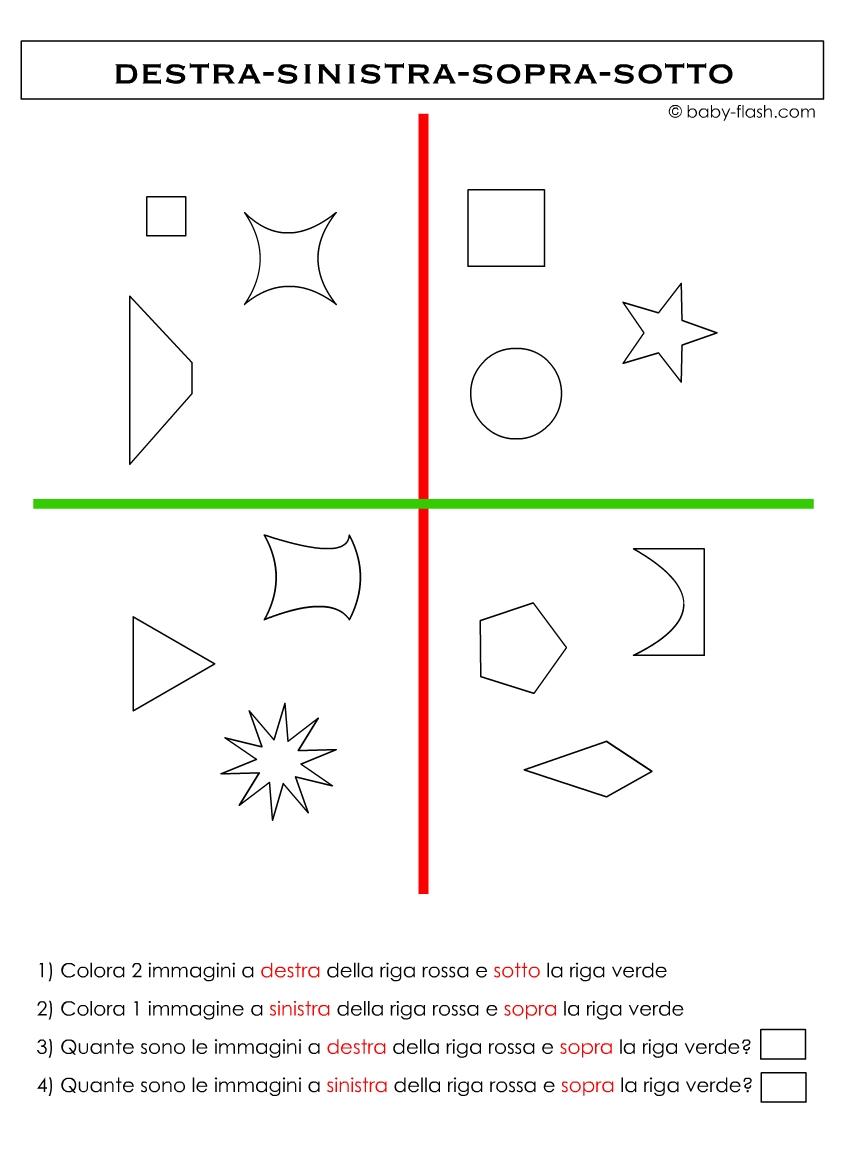 Favorito Schede didattiche percezioni spaziali - Baby-flash YM67