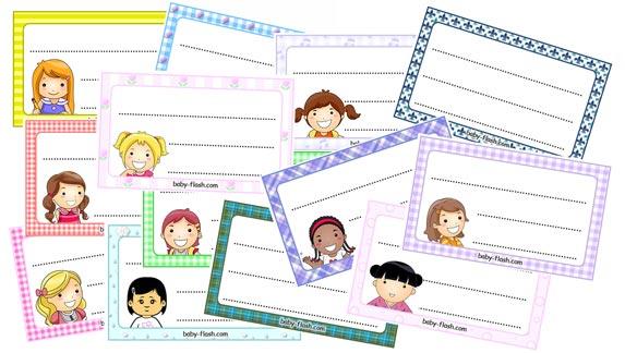 Etichette per bambine