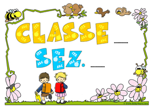 Materiale per allestimento aula baby flash for Cartelli porta aula scuola primaria