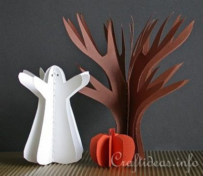 Paper_Craft_for_Halloween_-_3-D_Paper_Tree__Pumpkin_and_Ghost