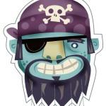 Careta Pirata color