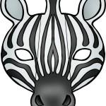 careta Cebra color