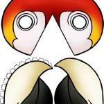 papagáj maszk