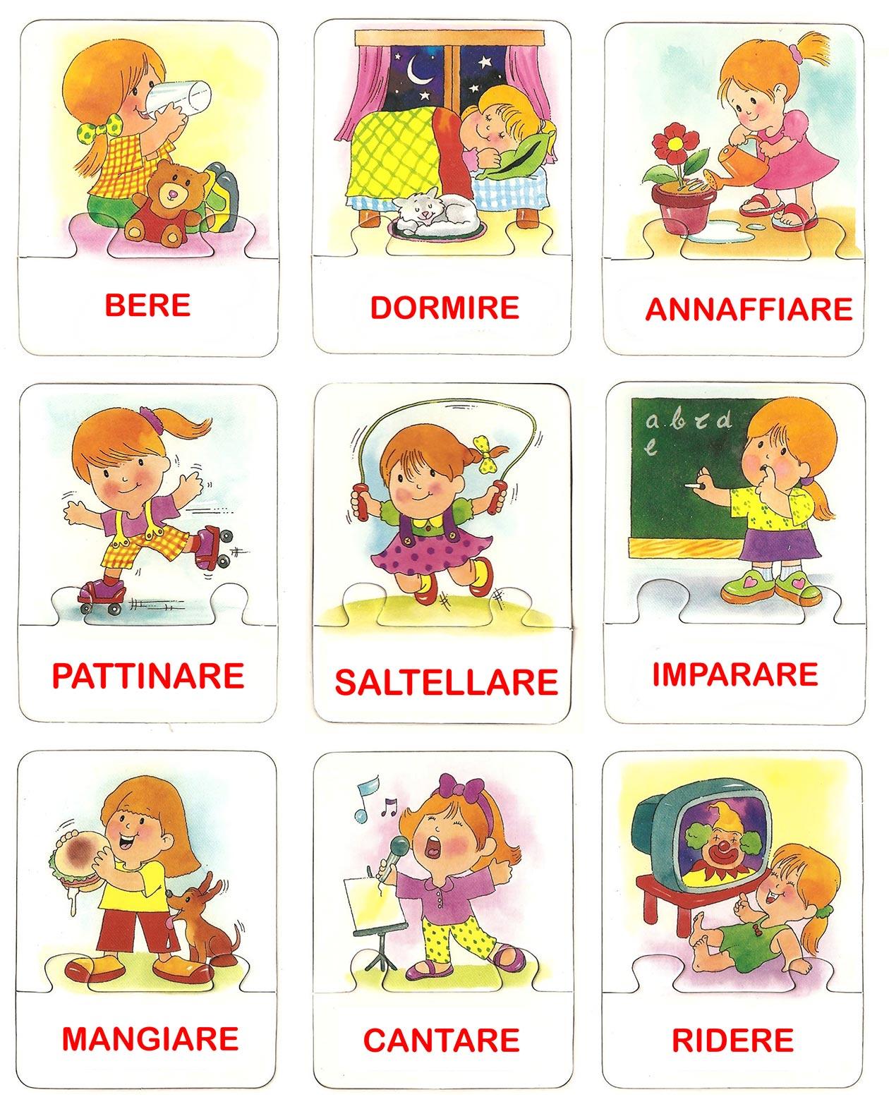 Sequenze di azioni quotidiane baby flash for Immagini flash da colorare