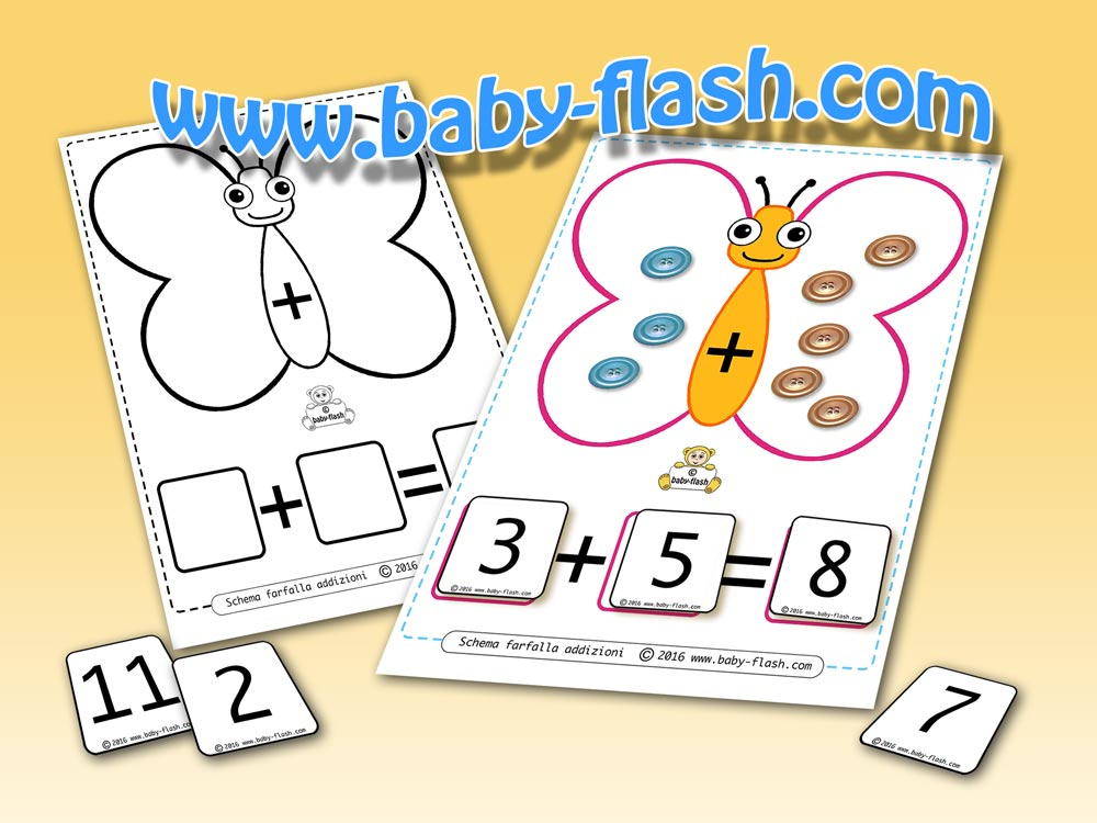 Schema utile per creare addizioni baby flash for Baby flash italiano doppie