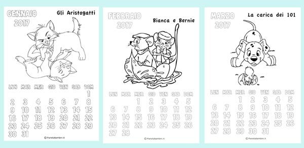 Calendario Anno 2016 Da Stampare.Calendari 2017 Da Stampare Baby Flash