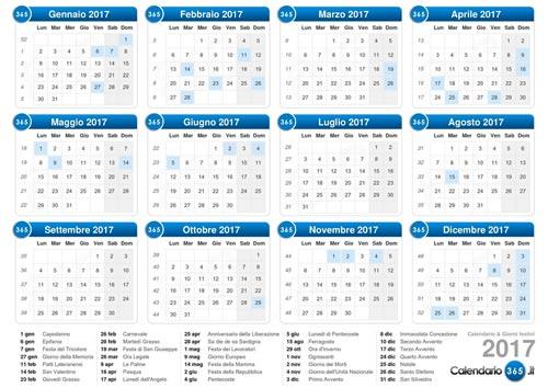 Calendari 2017 da stampare – Baby flash