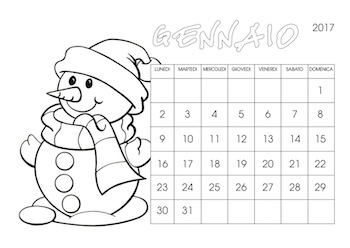 Calendari 2017 Da Stampare Baby Flash
