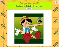 Puzzle con Pinocchio - Baby-flash