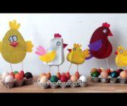 Cestini pasquali con cartone delle uova