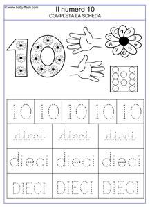 Imparare a conoscere i numeri dallo 0 al 10 - Baby-flash